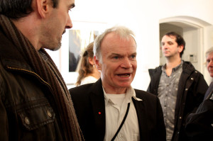 Artist Sean Hillen at the exhibition opening (photo Liam Madden)