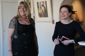 Artist Anne Marie McInerney with 2020 gallery owner Sheelah Moloney (photo Liam Madden)