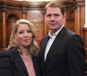 Sarah Kelly and Kevin Kelly, Treasurer of Chamber of Arts Heritage & Culture, (photo Liam Madden)