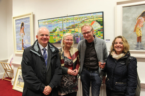 James Murphy, Helen Goodman, Frank O'Dea and Maria Bonals at the exhibition opening (photo Liam Madden)