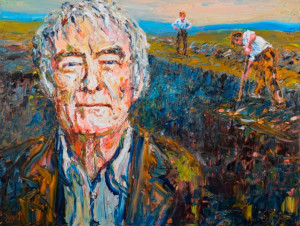 """Seamus Heaney in Toners Bog"" by Liam O'Neill, 100 x 75cm, Oil On Canvas"