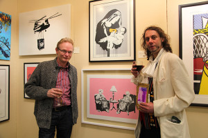 Gallery owner Frank O'Dea with Derek O'Shaughnessy at the event (photo Liam Madden)