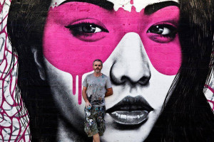 Fin Dac who was chosen as 'Artist in Residence' for 2014