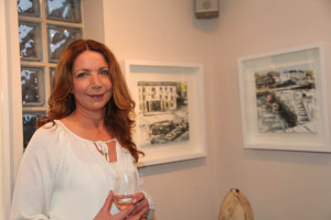 Artist Yvonne Moore at the gallery opening (Photo Liam Madden)