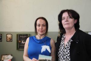 Sandra Schoene and Miriam Sweeney at the exhibition opening (Photo Liam Madden)