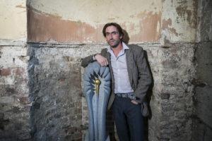 Sculptor Richie Healy from Rathfarnham (photo Andres Poveda)
