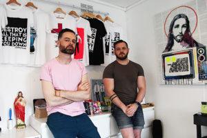 Adrian+Shane in their studio (photo Liam Madden)