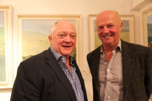 Photographers Michael Chester and Eric Luke at the exhibition opening (photo Liam Madden)