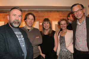 Neil Condron, Nicholas Robinson. Sinead Lawless, Mairead Clowry and John Clowry at the exhibition opening (photo Liam Madden)