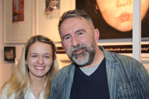 Curator Jenn Walsh and artist Neil Condron from  The Schoolhouse Gallery at Art Source (photo Liam Madden)