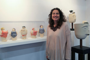Artist Jackie Ball at Art Source (photo Liam Madden)