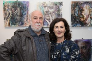 Artist John Keating with The Gallery owner Siobhan Bastable (photo Keith Dixon)