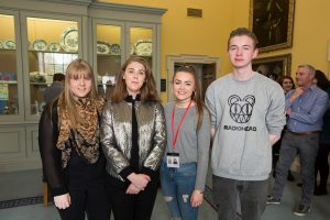 Emily Kearney, Sophie Hogan, Orla Costelloe and Zack Leahy all on work experience