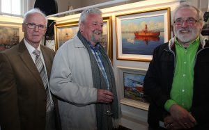 Artists Edward Freeney, Tom Roche and Patrick Cahill at the exhibition launch (photo Liam Madden)