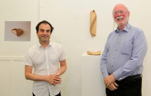 Olivier Cornet with Hugh Cummins at the exhibition launch