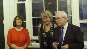 Simone Orr, Marie-Louise Martin and James English RHA at the exhibition opening (photo Liam Madden)