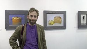 Artist Conor Walton at the exhibition opening. Photo Liam Madden.