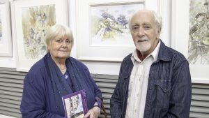 Artists Margaret Kent and Jim Doolan at the exhibition opening (photo Liam Madden)
