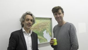 Gallery Owner Kevin Kavanagh with artist Ulrich Volg (photo Liam Madden)