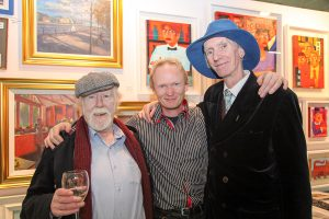 Ray Sherlock, Frank O'Dea and Tony Strickland at the exhibition launch (photo Liam Madden)