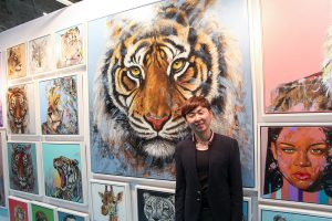Jin Yong at the exhibition launch (photo Liam Madden)