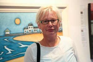 Roisin Duffy at the exhibition launch (photo Liam Madden)