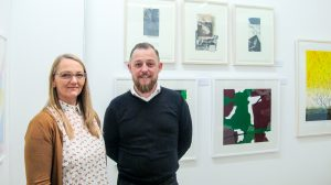 Suzannah O'Reilly Mullaney and Brian Fitzgerald from Parallel Editions (photo Liam Madden)