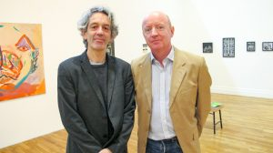 Kevin Kavanagh from Kevin Kavanagh Gallery with John Daly of the Hillsboro Gallery (photo Liam Madden)
