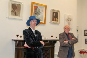 Tony Strickland and Neil Shawcross at the exhibition (photo Liam Madden)