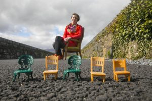 Visual artist, Michelle Browne, co-ordinator of the 'Bring Your Own Chair' project pictured on the iconic Waterford Greenway at Kilmacthomas.