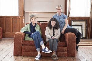 Artists L-R Sarah O'Flaherty, Fiona Kelly, Debbie Godsell