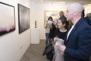 At the gallery opening (photo Paul Sherwood)