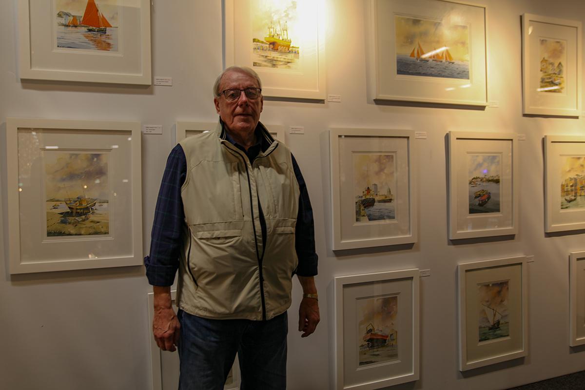 Watercolour artist Godfrey Smeaton