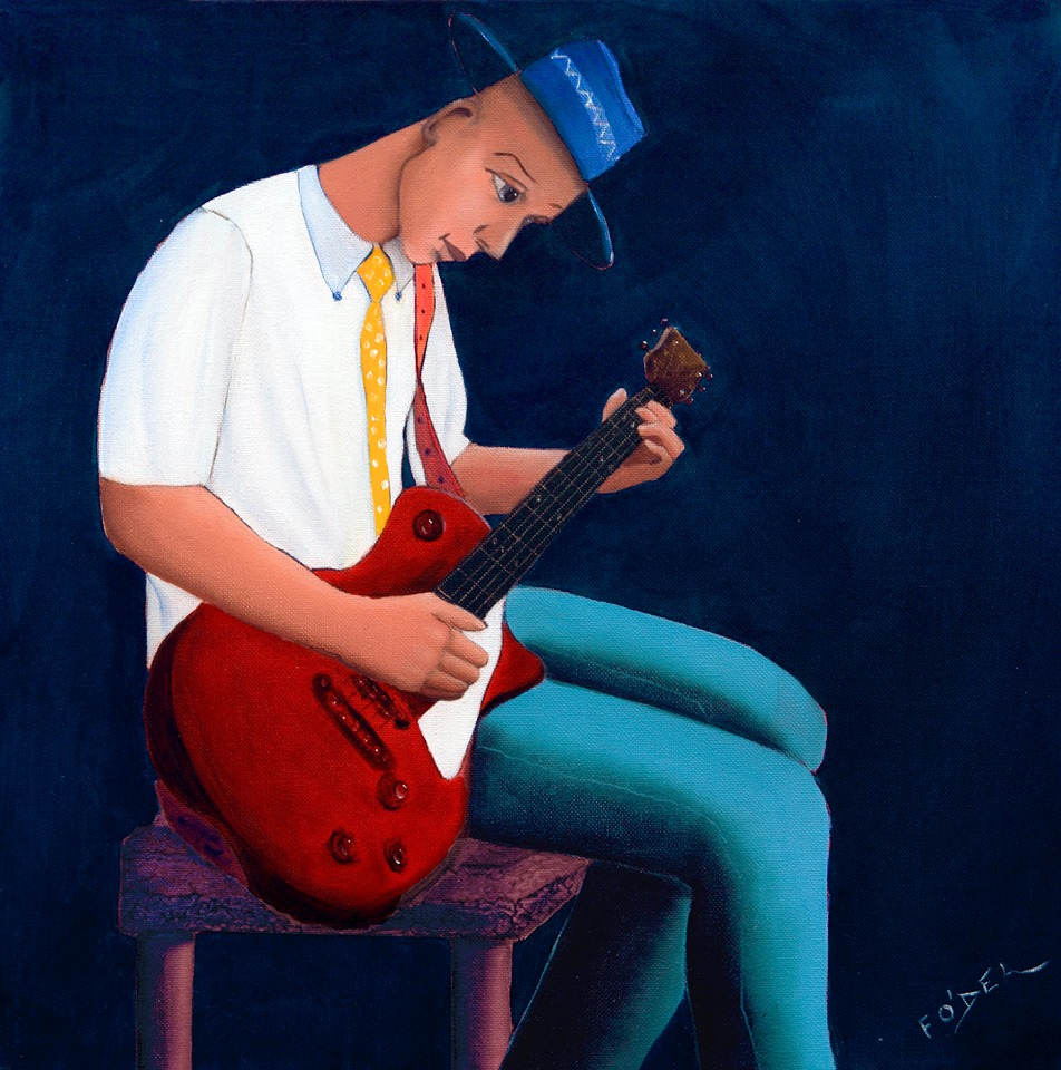 'Guitar Blues' by Frank O'Dea from the Balla Bán Gallery Stand A18