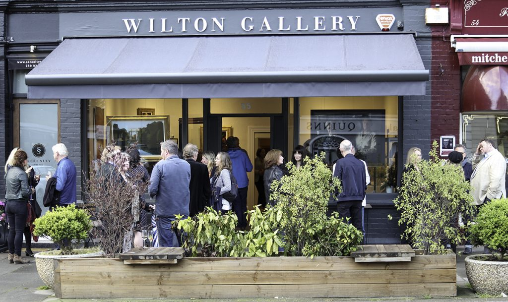 Outside the Wilton Gallery